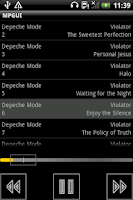 Screenshot of music player with built-in eq