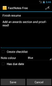 FastNotes Sticky Note Widget screenshot 1