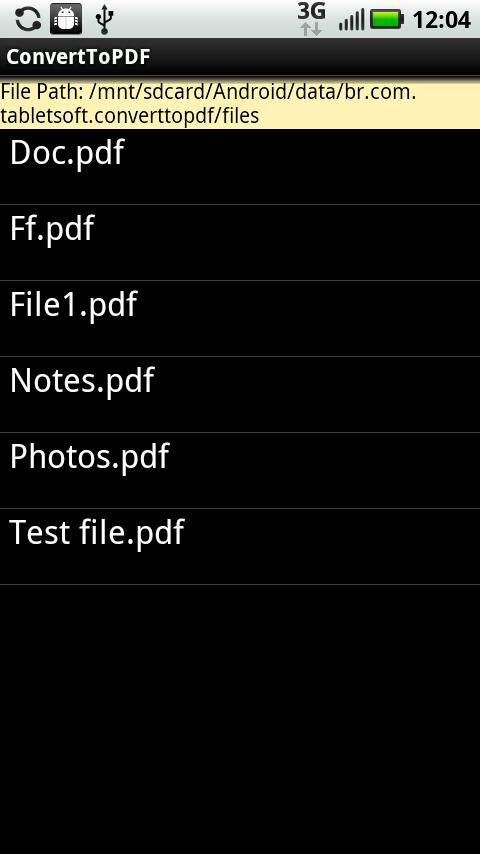 Convert To PDF Lite Version- screenshot