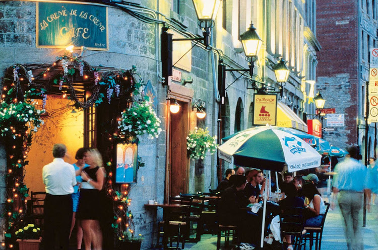 When in Montreal, get your Internet fix at a charming street cafe.