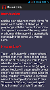 Musica Voice Control Player- screenshot thumbnail