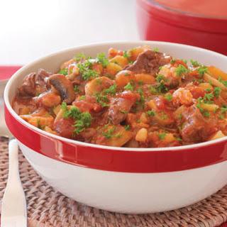 Harissa Beef Stew With Potatoes And Cauliflower.