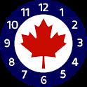 Canada alarm clock icon