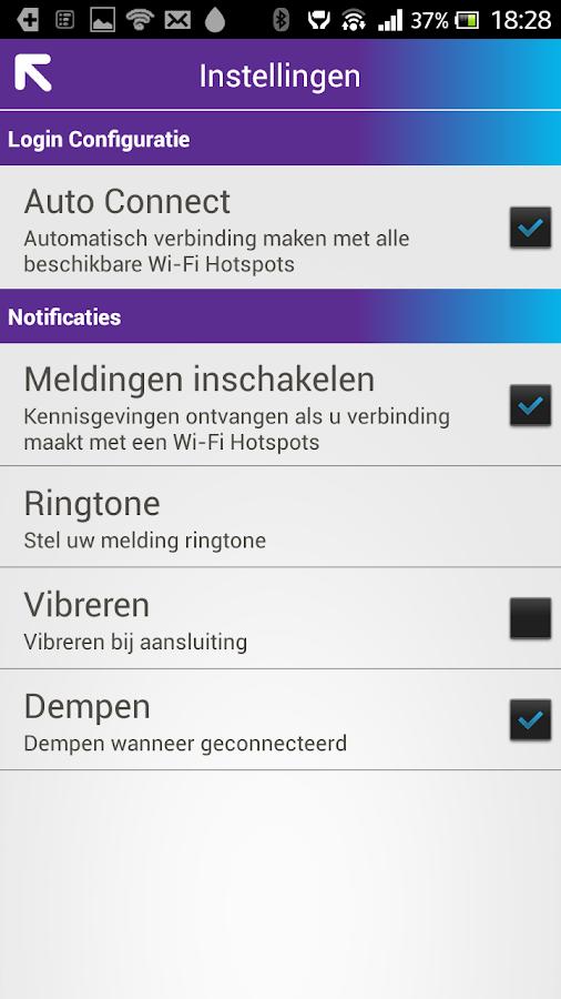 Proximus WiFi Hotspots met Fon - screenshot