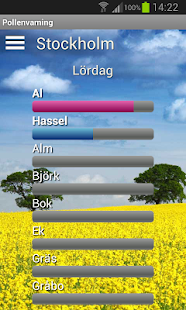 Pollen allergy warning Sweden- screenshot thumbnail