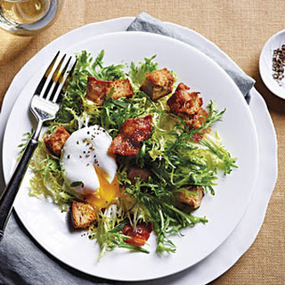 French Frisée Salad with Bacon and Poached Eggs