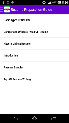 Resume Preparation Guide