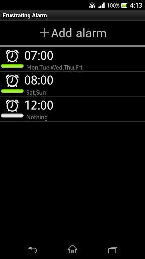 Frustrating Alarm