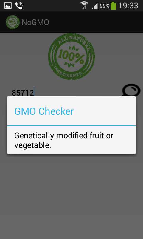 No GMO - screenshot