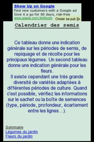 Calendrier des semis au jardin android apps on google play for Calendrier jardin