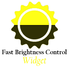 Fast Brightness Control Widget icon