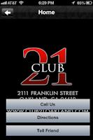 Screenshot of Club 21 Oakland