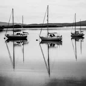 Reflections by Nicole Williams - Novices Only Landscapes ( boats loch reflections )