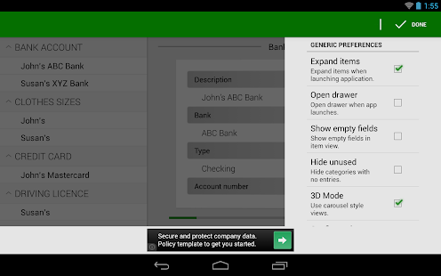 Password Manager Lite- screenshot thumbnail