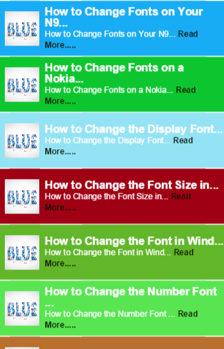 Font for Mobie guide