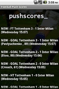 Football Push Scores Lite- screenshot thumbnail