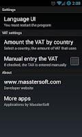 Screenshot of Check the VAT