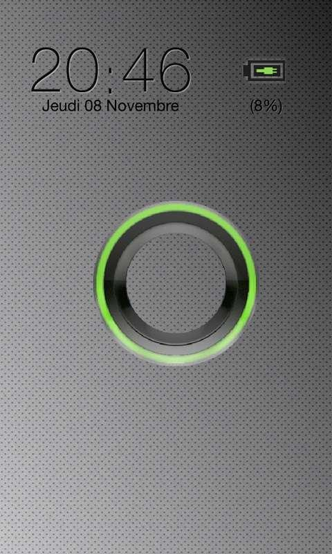 Sense Green Go Locker theme - screenshot