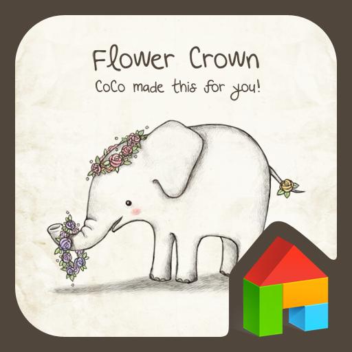 아기코끼리 코코(flower crown) 도돌런처 테마 個人化 App LOGO-APP試玩