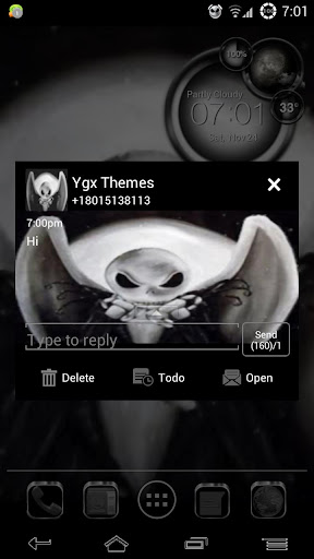 Go SMS Nightmare Theme