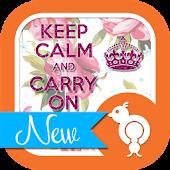 Keep Calm Carry On Theme SMS