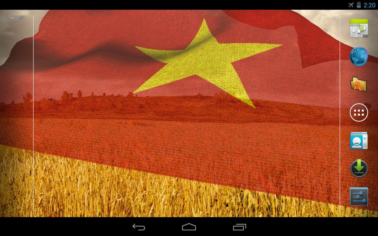 3D Vietnam Flag LWP - screenshot