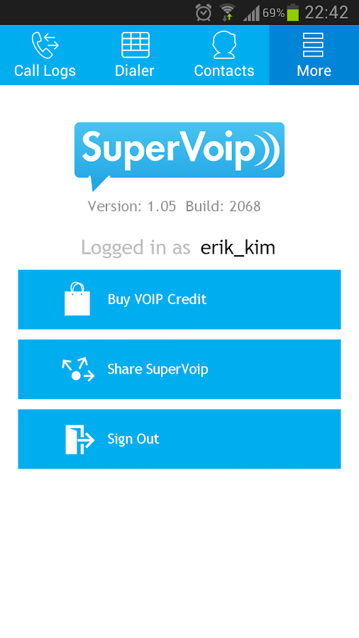 SuperVoip - Cheap calls - screenshot