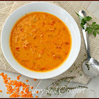 Spicy Lentil (Masoor Dal) Soup-Throwback Thursday