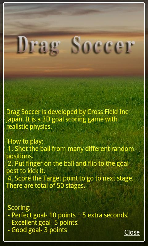 Drag Soccer - screenshot