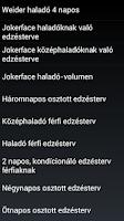 Screenshot of Edzéstervek magyar