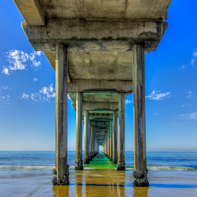 Tunnel to Light by Lance Emerson - Buildings & Architecture Public & Historical ( sand, waves, pier, ocean, beach,  )