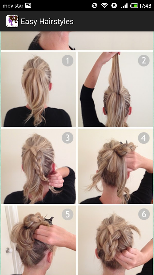 Tremendous Easy Hairstyles Step By Step Android Apps On Google Play Short Hairstyles Gunalazisus