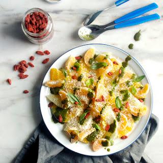 Citrus Salad with Basil-Coconut Sauce