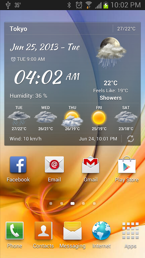 Android Weather & Clock Widget - screenshot