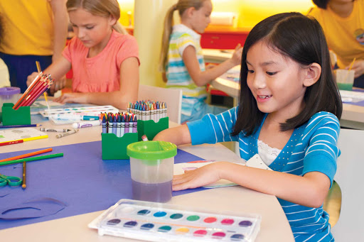Royal-Caribbean-Imagination-Studio-kids-1 - Kids will have a good time exploring the world of color and creativity in Imagination Studio on deck 14 of Allure of the Seas.