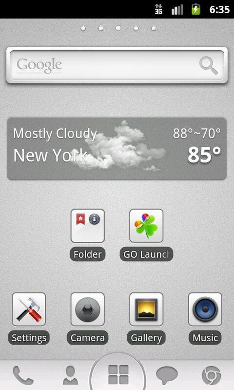 GO Launcher EX Theme Grey - screenshot