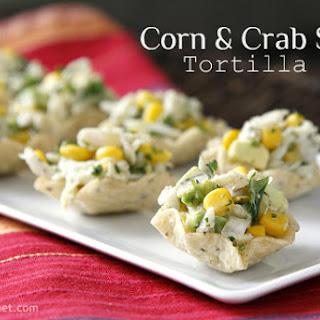 Corn and Crab Salad Tortilla Cups Recipe