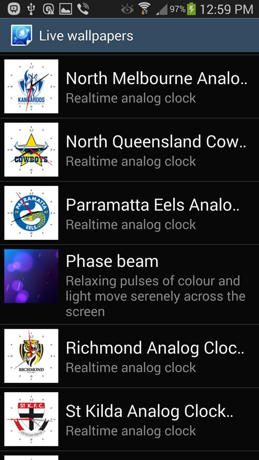 North Melbourne Analog Clock- screenshot