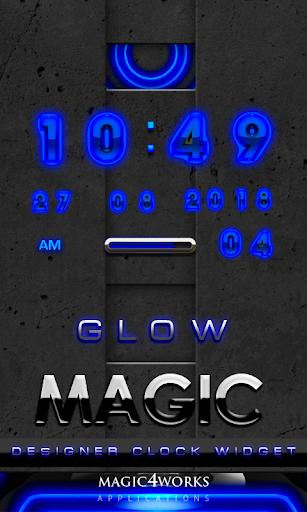 Blue Glow Magic Digital Clock