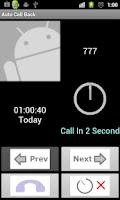 Screenshot of Auto Call Back