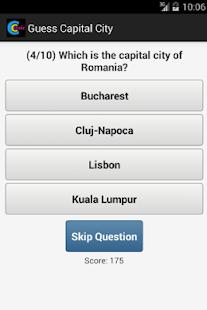 Capital City Quiz Ekran Görüntüsü