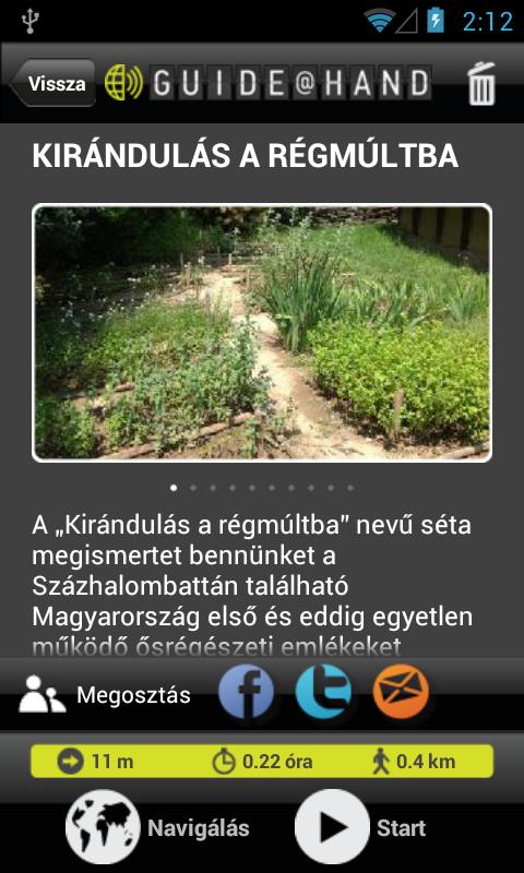 Régészeti Park GUIDE@HAND - screenshot