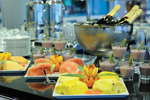 Scenic-Cruises-dining - Look for fresh fruit appetizers and fine wine in your all-inclusive cruise with Scenic Cruises.