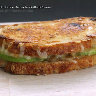 ROASTED GARLIC DULCE DE LECHE GRILLED CHEESE.