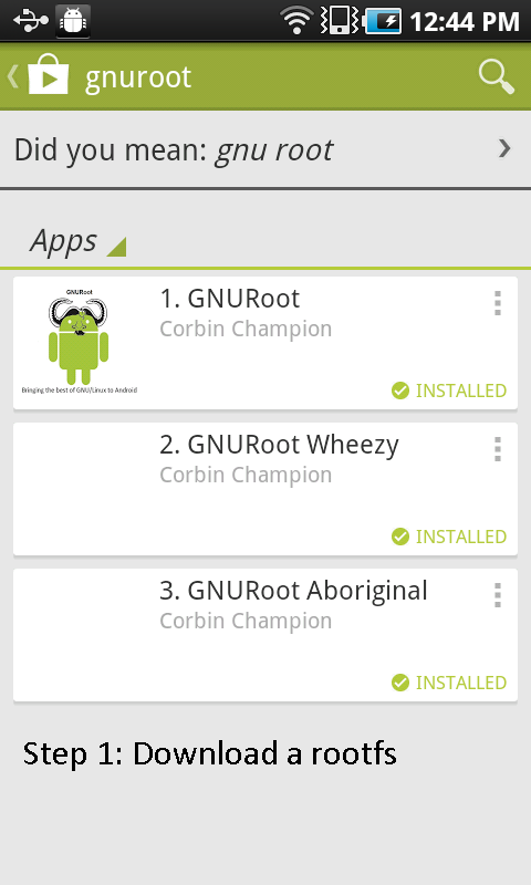 GNURoot - screenshot