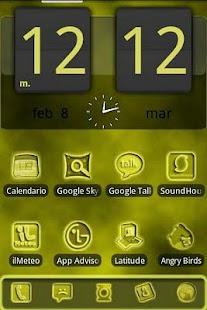 ADW FogGy Yellow Pulse Theme screenshot