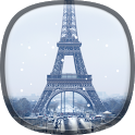 Snow in Paris Live Wallpaper icon