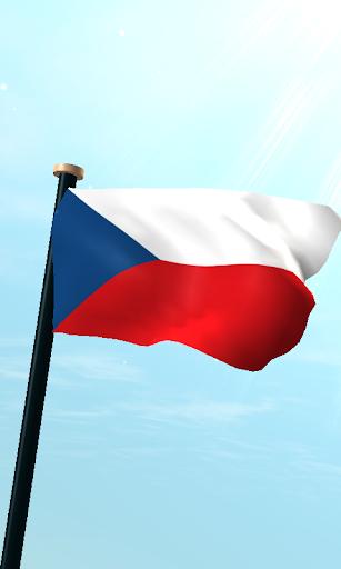 捷克共和國旗3D動態桌布