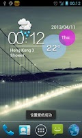Screenshot of Colorful Go Weather Theme Free