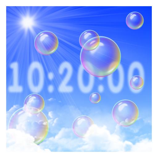 Bubbles & clock PRO LOGO-APP點子